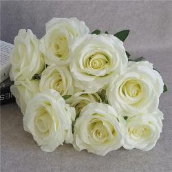 Décoration de mariage de fleurs artificielles Fleurs roses en soie