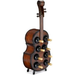 Bodega europea creativa de madera estante de vino de violonchelo 140cm de 8 botellas
