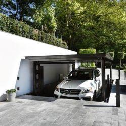 De ondergrondse Onzichtbare Oplossing van de Apparatuur van de Garage van de Lift van het Parkeren van de dubbel-Laag van de Lift van de Auto van de Schaar voor Villa en Privé Huis