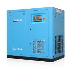 30HP 22kwはRotorcomp/Hanbellの空気端が付いている運転された機械電気産業高圧回転式単一の経済的な静止したネジ式空気圧縮機を指示する
