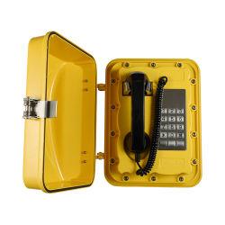 В чрезвычайных ситуациях вне промышленной телефон водонепроницаемый IP67 крепится к стене Analog-VoJwat телефонных аппаратов IP301