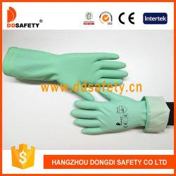 Gants de latex vert Ddsafety ménage avec Spray Intérieur floqué Diamond Grip