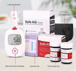 Глюкоза крови монитор с голосовыми сахара в крови глюкоза дозатора для сахара диабет