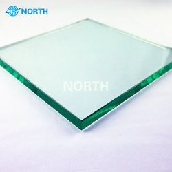 Grande rupture thermique en aluminium Double porte coulissante en verre trempé