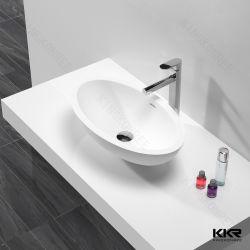 Sanitaires de la résine de Surface solide moderne salle de bain évier en pierre 190821
