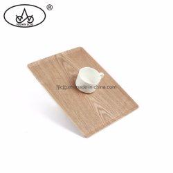 Sushis japonés La cocina utensilios de cocina de madera contrachapada de té en el interior rectangular que sirve en bandeja de madera de sauce Non-Slip