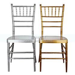 알루미늄 철 강철 호텔 대중음식점 연회 결혼식 Tiffany Chiavari 의자를 겹쳐 쌓이기
