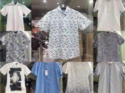 Kleren van Stocklot van het Overhemd van de Koker van mensen de Korte