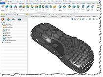 Software de Design da sapata em 3D para o equipamento