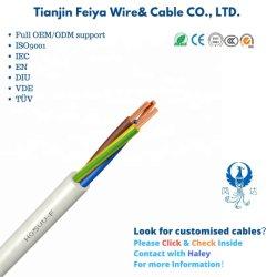 Cablagem de casa Multi Core único condutor de cobre com isolamento de PVC flexível embainhados H03VV-F flat cable/Heat-Resistant Marcação fios LSZH controlo eléctrico