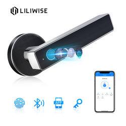 Smart sécuritaire du matériel de haute qualité d'empreintes digitales réseau Clavier Bluetooth bouton de porte de la poignée de commande à distance du levier de verrous de ménage
