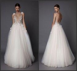결혼 예복 Tulle 소매 없는 신부 구슬로 만드는 투명한 Prom는 Z2059를 가운을 입는다