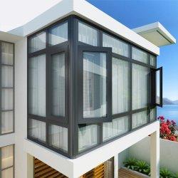Branco/cinza/preto Design moderno de vidro duplo moldura em alumínio Wire Mesh Casement Janela para construir com persianas de Plantio