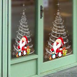 Fenster-Dekoration-Aufkleber-Satz-Weihnachtsmann-Schneemann, der Tagebuch Decoration&#160 formt;