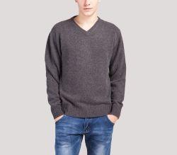 Invierno de tejido grueso cuello en V. Jersey Cashmere sweater para hombres