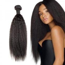 100%年のバージンの人間の毛髪は中国の工場大きさの価格の拡張ねじれたまっすぐな8-40インチの人間の毛髪の束ねる