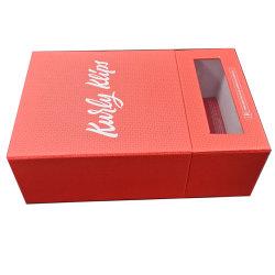 Caixa de oferta de papel impresso com PVC para embalagem de extensão de cabelo