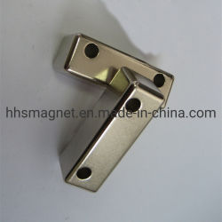 NdFeBの常置磁石、ニッケルメッキのブロックの形