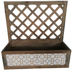 홈 & 가든 장식을 위한 직사각형 목재/금속벽 장착 플레이터