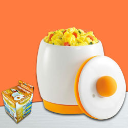 Huevo de microondas de cerámica de cocina rápida Micifuz, huevos revueltos bote utensilios de cocina