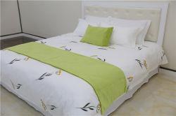 Hôtel de luxe de taille Queen textiles 100% coton brodé Linge de lit d'hôtel