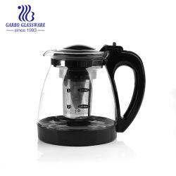 Черный оранжевого стекла чайник и кофеварка Infuser из нержавеющей стали просто ретро ГБ1164-1
