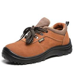 S1p Standardveloursleder-Stahlzehe-Stahlplatten-Fabrik-Sicherheits-Schuhe