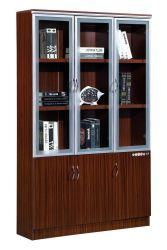 La mélamine Bibliothèque avec châssis en aluminium 2019 Mobilier porte armoire de fichiers 2 3 Étagère porte armoire de fichiers nouveau design de mobilier de bureau
