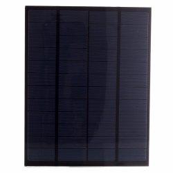 5W 12Vの強い効率のペットによって薄板にされる多結晶性太陽電池パネル