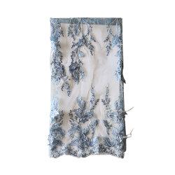 Merletto Ivory del ricamo 3D Tulle del merletto 3D del commercio all'ingrosso 3D del fiore di Applique variopinto del merletto per il vestito da cerimonia nuziale