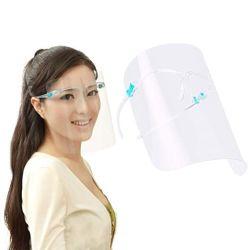 HD total segurança Nevoeiro Anti viseira facial protetor facial de segurança claras de vidro de protecção transparente protetor de rosto com estrutura de óculos