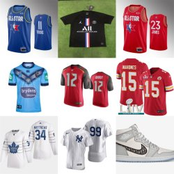 Commerce de gros de Hockey Baseball Basketball Football Rugby Soccer chaussures Putian Jerseys