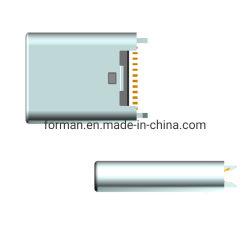 USB 3.1-aansluiting type-C vrouwelijke connector voor DIP En SMD Interface 24-pins lange versie