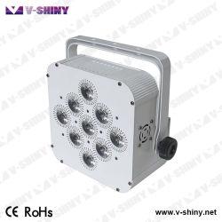 Долгий срок службы аккумуляторной батареи светодиод на базе плоских Uplight PAR промойте лампа