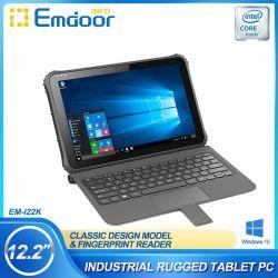 طاولة كمبيوتر دفتري متينة قابلة للفصل في جهاز 2 في 1 قابل للفصل IP65 مقاومة للماء شاشة Intel 4G 128g Win10 الصناعية القوية مقاس 12 بوصة كمبيوتر محمول