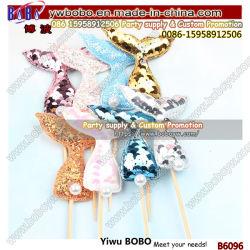 الحزب إمداد تموين [نرد] طرف إمداد تموين [تتس] يزيّن مجموعة [غليتر] كيوكيك Mermaid Tail Wedding Cake Topper (B6096)