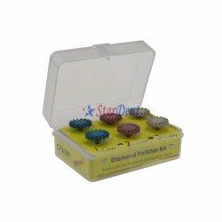 Zahnmedizinisches Ra-zusammengesetztes Poliermittel-Installationssatz-Rad mit Diamanten Dand/zahnmedizinischer Harz-Diamant-Polierinstallationssatz