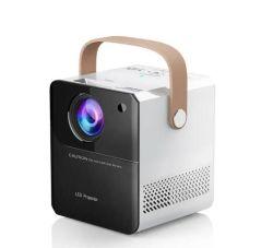 Projector LCD ultra portátil com pega Home Entertaimenttheater Lumens 8000 2000: 1 Taxa de contraste com HD cartão TF USB A porta de conexão AV