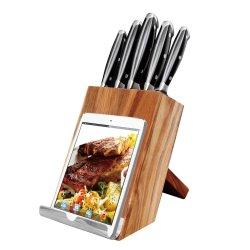 6-х кухня комплекта ножей с деревянным блоком и Bookstand 2 в 1