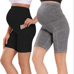 Plus taglia Sport Yoga Safety Pantaloni Fitness Running maternità Shorts Per donne incinte