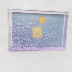 CORNICE fotografica liquida glitter 4X6 pollici plastica trasparente acrilica Cornici fotografiche scintillanti galleggianti per matrimoni