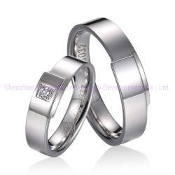 Het zilveren Geplateerde Goud belt Ring van Damascus van de Ring van Siler van Mensen de Gelukkige