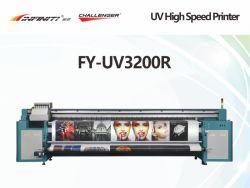 Challenger Infiniti 3,20 metros 10 pés de largura em grande formato impressora UV Fy-UV3200r para auto-vinil, lona, couro, película flexível