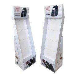 El papel de cartón corrugado Teléfono celular caso piso dispositivo inteligente de pantalla Soporte para montaje en bastidor de colgar con ganchos