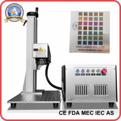 ロゴの印刷の金属の彫版の銀の切断のコップの回転式マークのためのファイバーレーザーのマーキング機械