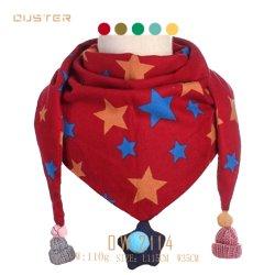 I capretti di inverno e di autunno hanno lavorato a maglia gli accessori di modo della sciarpa della donna di stile della stampa delle stelle della sciarpa dei bambini di sguardo di natale della sciarpa del poliestere