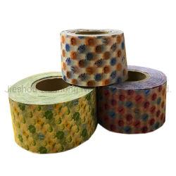 Twist color caramelo la envoltura de papel recubierto de cera cera empaquetado de alimentos de papel para el Hamburger