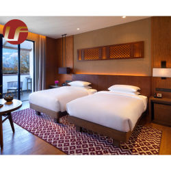 2020 도매 새로운 디자인 고급 호텔 침실에 의하여 주문을 받아서 만들어지는 나무로 되는 가구