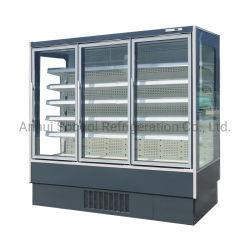 Integraal Multideck Gekoeld Kabinet met de Deur van het Glas & Verticale LEIDENE Verlichting