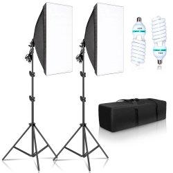 E27 사진 전구 사진 스튜디오 장비를 가진 사진술 50X70cm Softbox 점화 장비 직업적인 가벼운 시스템